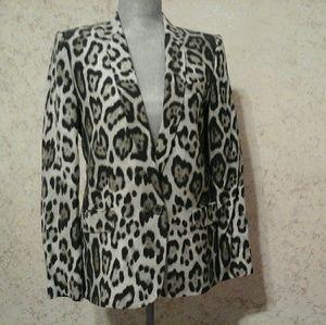 Zara leopard print blazer
